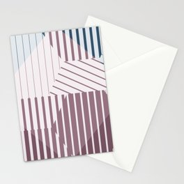 Molecules - Geometric Abstract Blue Blush Hexagons Stationery Cards