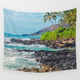 Paako Beach Blue Sensation Wall Tapestry