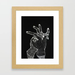 Thoughts on Death Framed Art Print