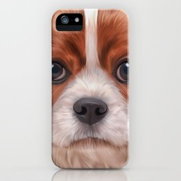 Drawing Cavalier King Charles Spaniel iPhone Case