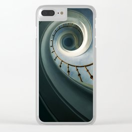 Pretty blue staircase Clear iPhone Case