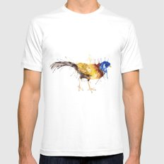 Double Barded Argus MEDIUM Mens Fitted Tee White