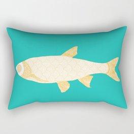 The Golden Fish Rectangular Pillow