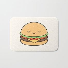 Happy Burger Bath Mat