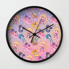 Chibis Crystal Pattern Wall Clock