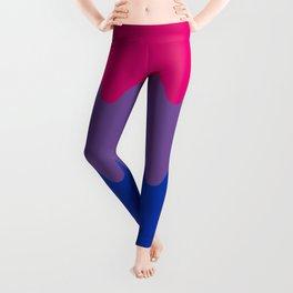 Wavy Bisexual Flag Leggings
