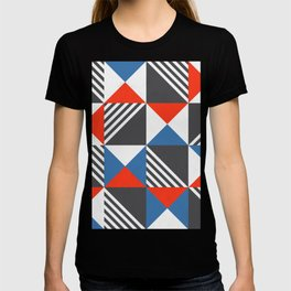 Geometric Triangle Lines Pattern T-shirt