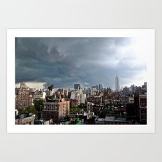 Taking The City By Storm Art Print
