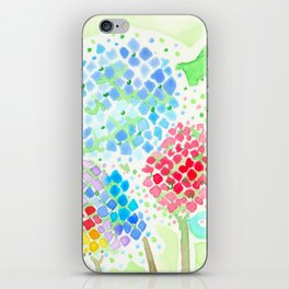 Rainbow Hydrangeas iPhone Skin