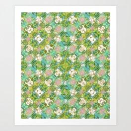 Vintage Floral Print Pattern Art Print