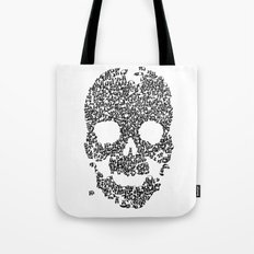 Panda is cool/skull Tote Bag