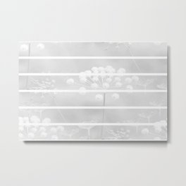 White Plant On A Grey Background #decor #society6 Metal Print