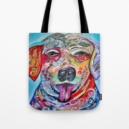 Laughing Labrador Tote Bag