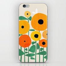 Sunflower and Bee iPhone & iPod Skin