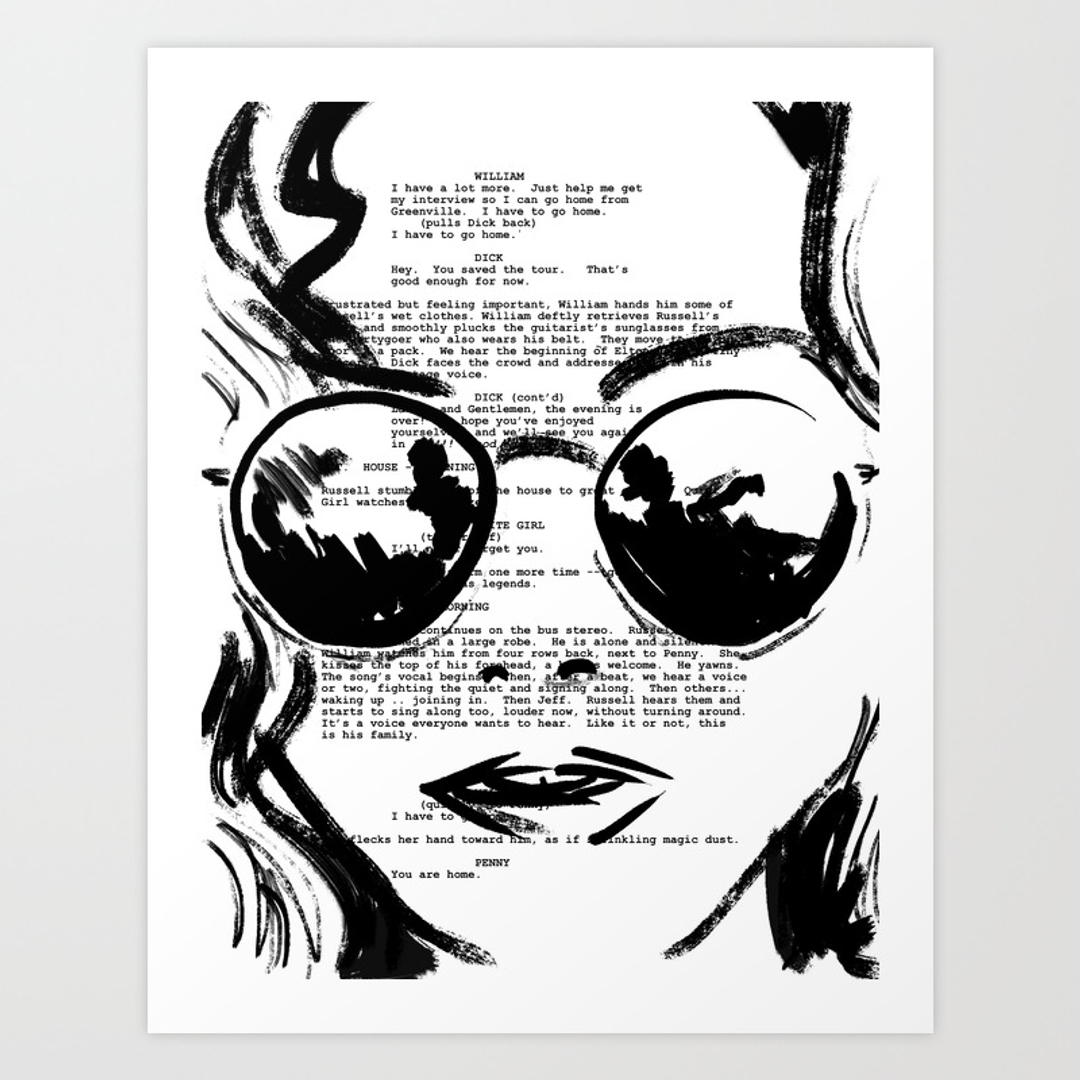 Black white and movies tv art prints society6 for Black and white celebrity prints