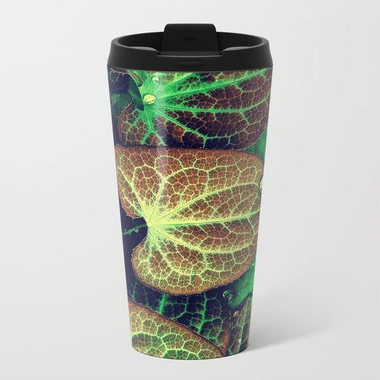 Plant Art, Simply Leaves Metal Travel Mug
