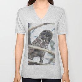 Let Us Prey - Great Grey Owl & Mouse Unisex V-Neck