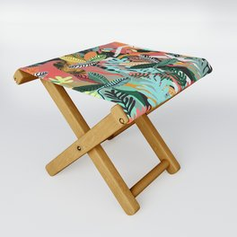Sunset in the jungle Folding Stool