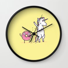 How donuts get sprinkles Wall Clock