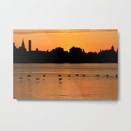 Silhouette Skyline Metal Print