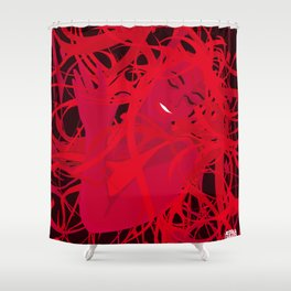 01 - RED GIRL Shower Curtain