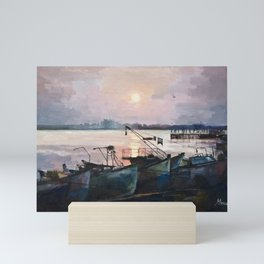 Sea Sunset Mini Art Print