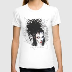 Lydia, Alice, Deetz, Glass X-LARGE White Womens Fitted Tee