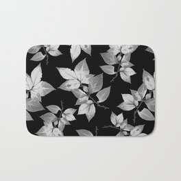 Elegant Leaves Bath Mat