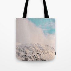 Black, White & Turquoise Winter Tote Bag
