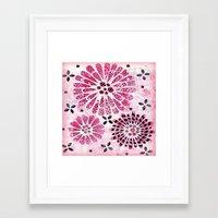 flower pattern Framed Art Prints featuring Flower Pattern by Judy Skowron