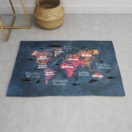 world map 115 #worldmap #map Rug