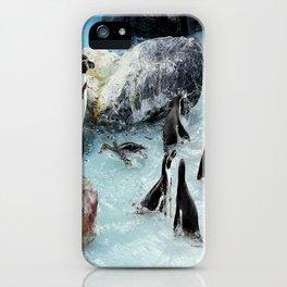 Penguins. iPhone Case