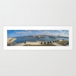 Grand Harbour Valletta Art Print