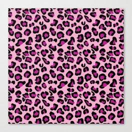 Leopard-Pink+Black+Purple Canvas Print