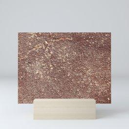 Burgundy Sandpaper Texture Mini Art Print