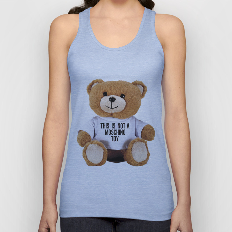 Teddy Bear Parfum Moschino Unisex Tank Top By Claudiovelzquez Society6