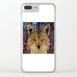 Long Night Coyote Clear iPhone Case