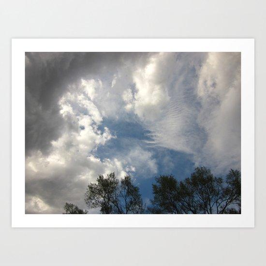 Symphony Of Clouds Art Print