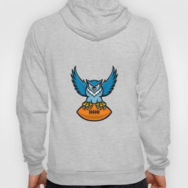 Great Horned Owl American Football Mascot Hoody