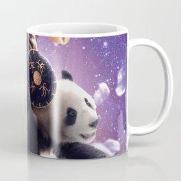 Lazer Warrior Space Cat Riding Panda With Hotdog Coffee Mug