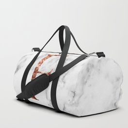 Monogram rose gold marble F Duffle Bag