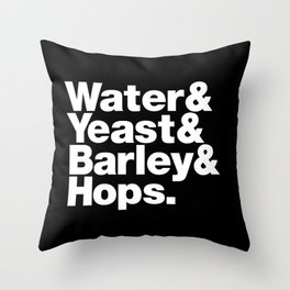 The Fab 4 - Beer Throw Pillow