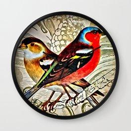 BRIGHT BIRDIES Wall Clock