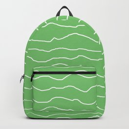 Green with White Squiggly Lines Backpack