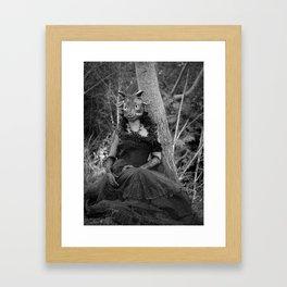 Goat Woman Framed Art Print