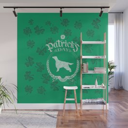 St. Patrick's Day Irish Setter Funny Gifts for Dog Lovers Wall Mural