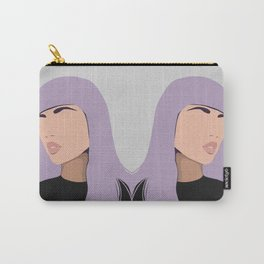 Harlow - portrait of a woman with purple hair Carry-All Pouch