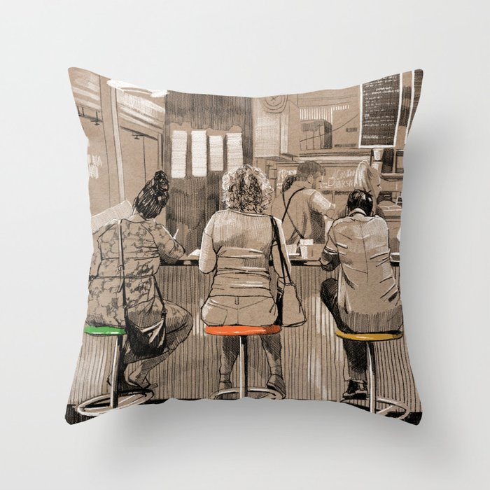 Daily life Throw Pillow