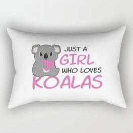 Just A Girl Who Loves Koalas Rectangular Pillow