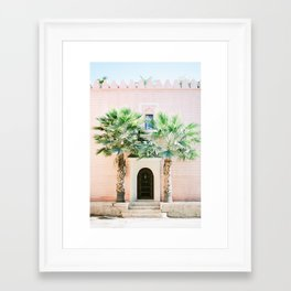 "Travel photography print ""Magical Marrakech"" photo art made in Morocco. Pastel colored. Framed Art Print"
